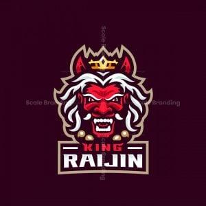 King Raijin Mascot Logo