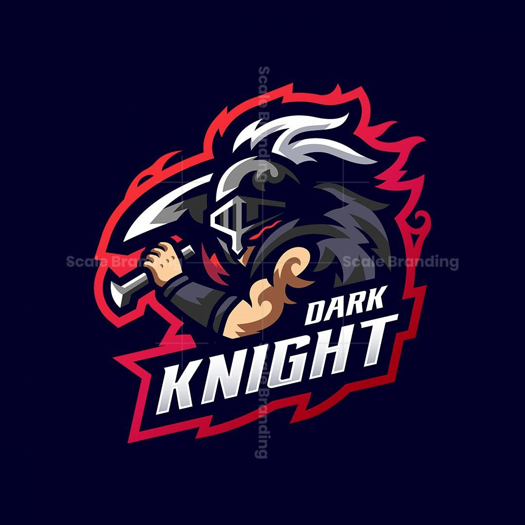 Dark Knight Mascot Logo