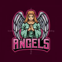 Angels Mascot Logo