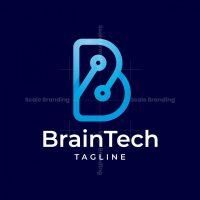 Brain Tech B Letter Logo