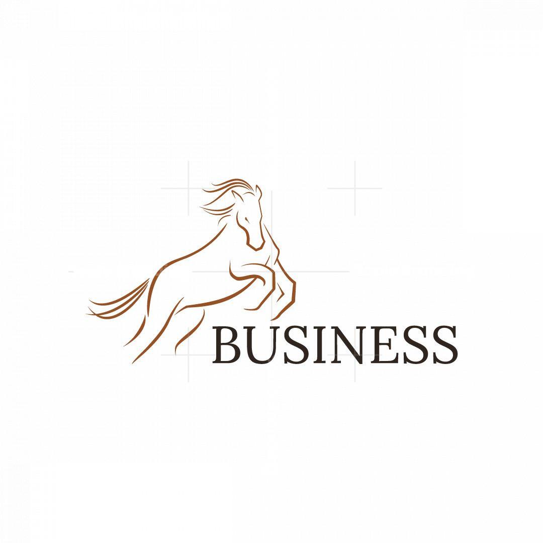 Strong Horse Animal Logo