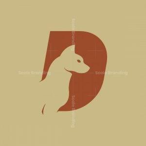 Letter D Dog Animal Logo