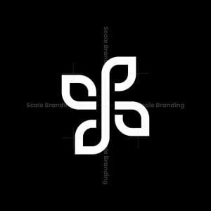 Dp Leaf Monogram Logo