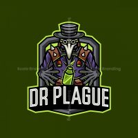 Dr Plague Mascot Logo