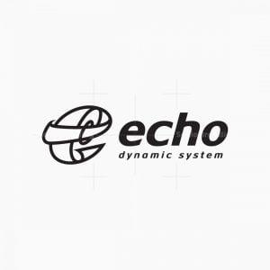 Dynamic Letter E Logo