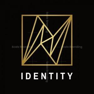 Elegant Golden Letter N Logo