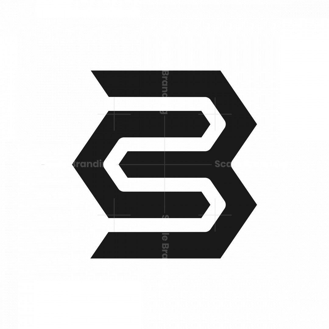 Geometric Letter Cb Bc Logo