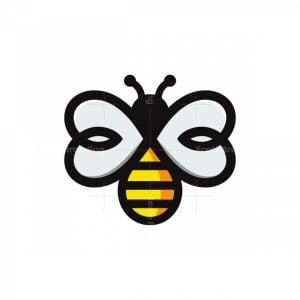 Heart Winged Bee Logo