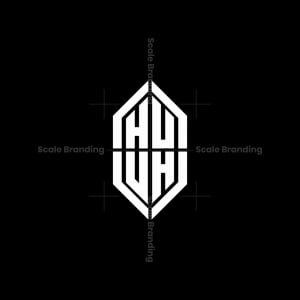 Huuh Monogram Shield Logo