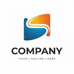 Interlocking Letter S Tech Logo