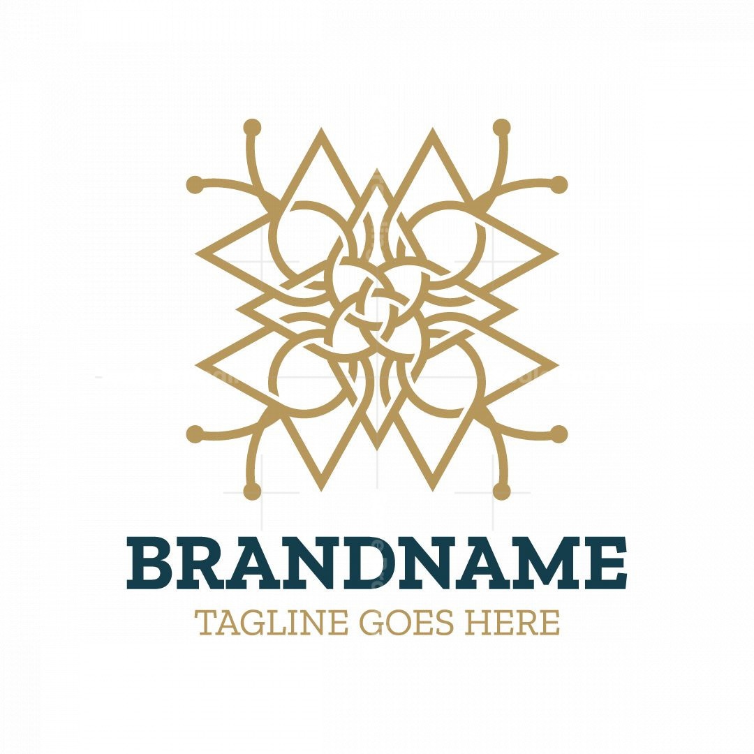 Elegant Abstract Flower And Butterfly Logo