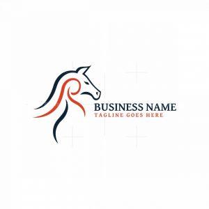 Letter R Horse Logo