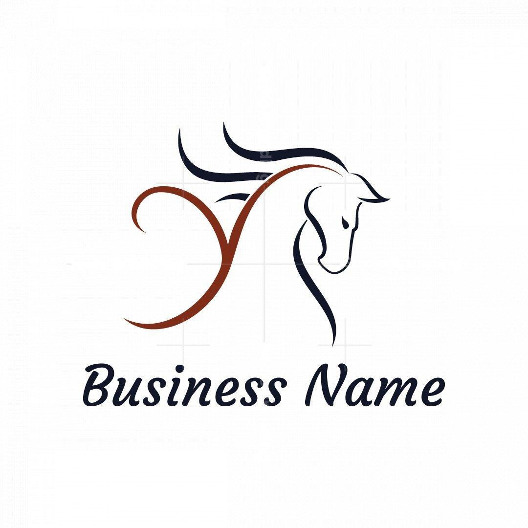 Letter Y Horse Logo