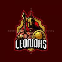Leonidas Spartan Mascot Logo