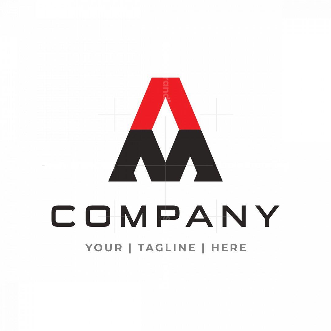 Letter Am Or Ma Diamond Logo