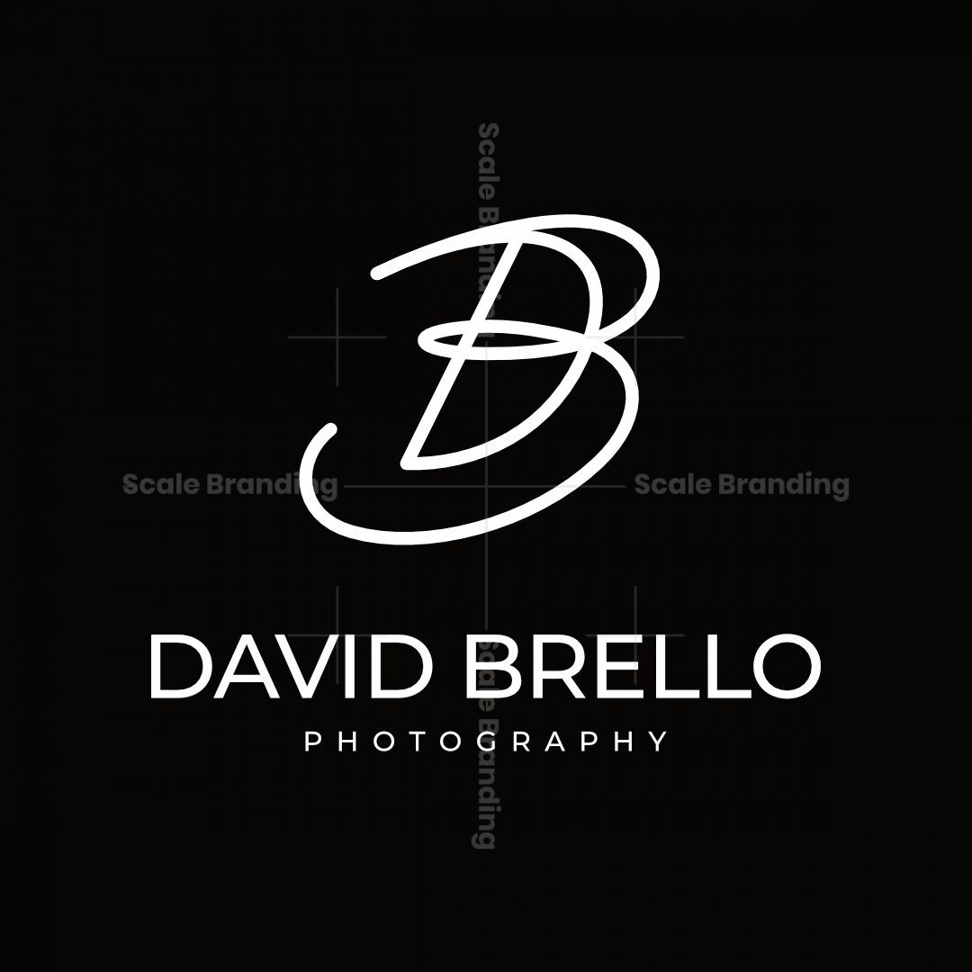 Letter Db Or Bd Signature Style Logo