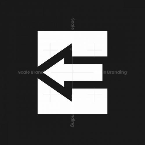 Letter E Arrow Logo