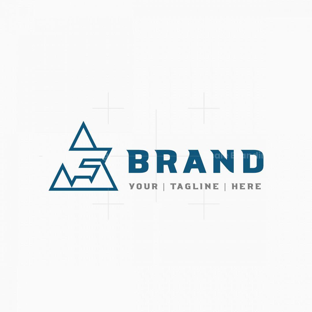 Letter F Or Af Triangle Logo