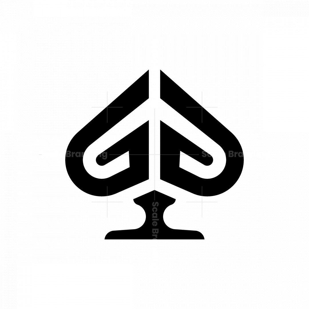 Letter G Spade Logo