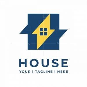Letter H Thunder House Logo