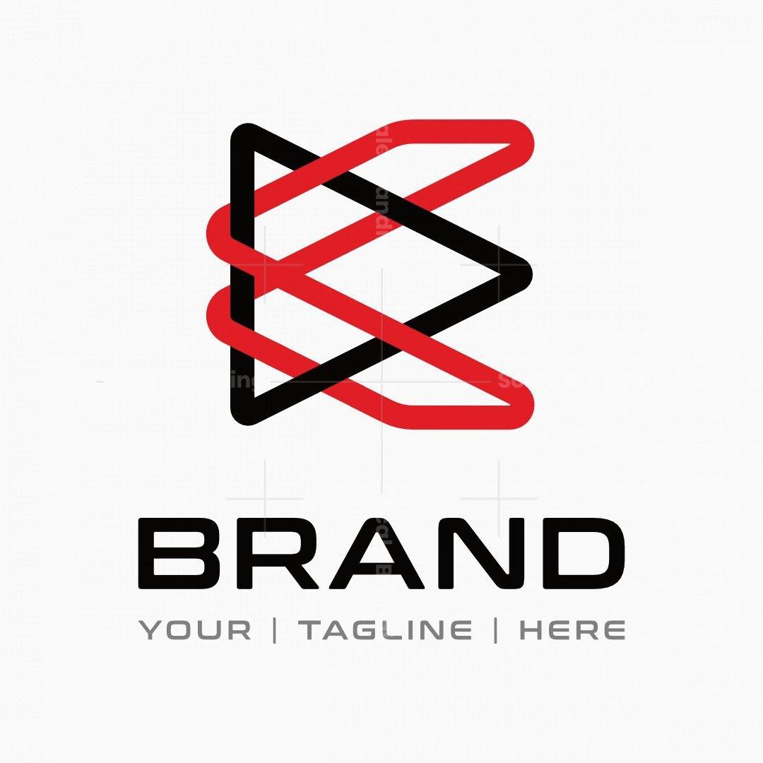 Letter K Arrow Tech Logo