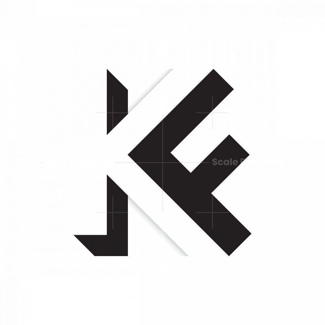 Letter Kf Fk Logo