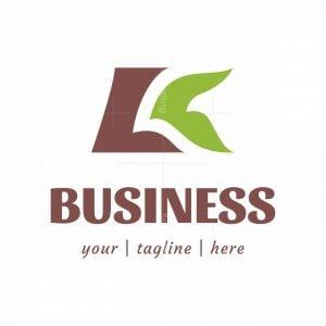 Letter K Or Lk With Bird And Leaf Logo