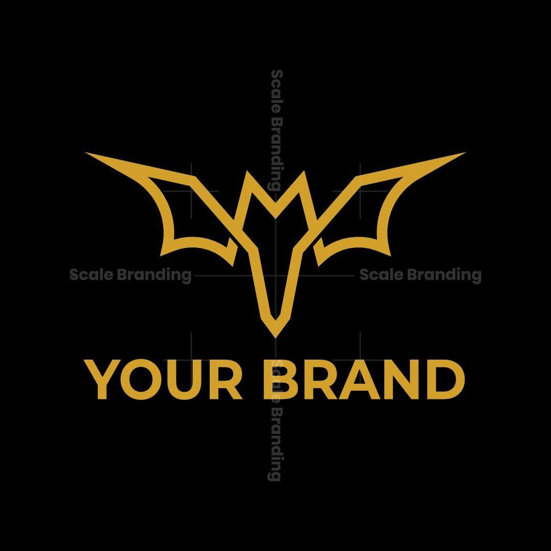 Letter Mv Bat Logo