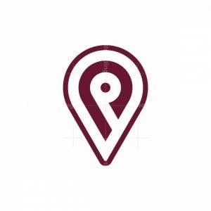 Letter P Map Pin Logo