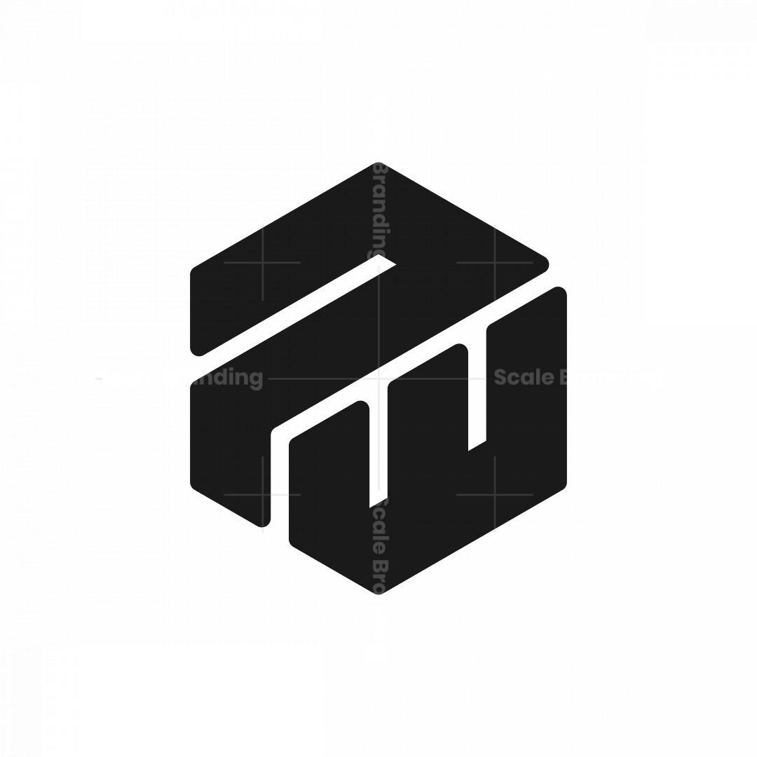 Letter Pw Wp Hexagonal Logo