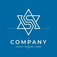 Letter S Star Tech Logo