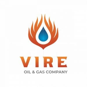 Letter V Flame Or Fire With Droplet Logo