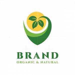 Letter V With Leaves Nature Logo