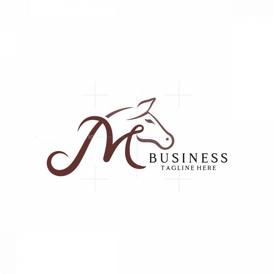 Stylish M Horse Logo