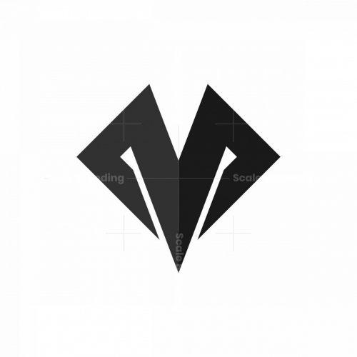 Mv Vm Letter M Monogram Logo