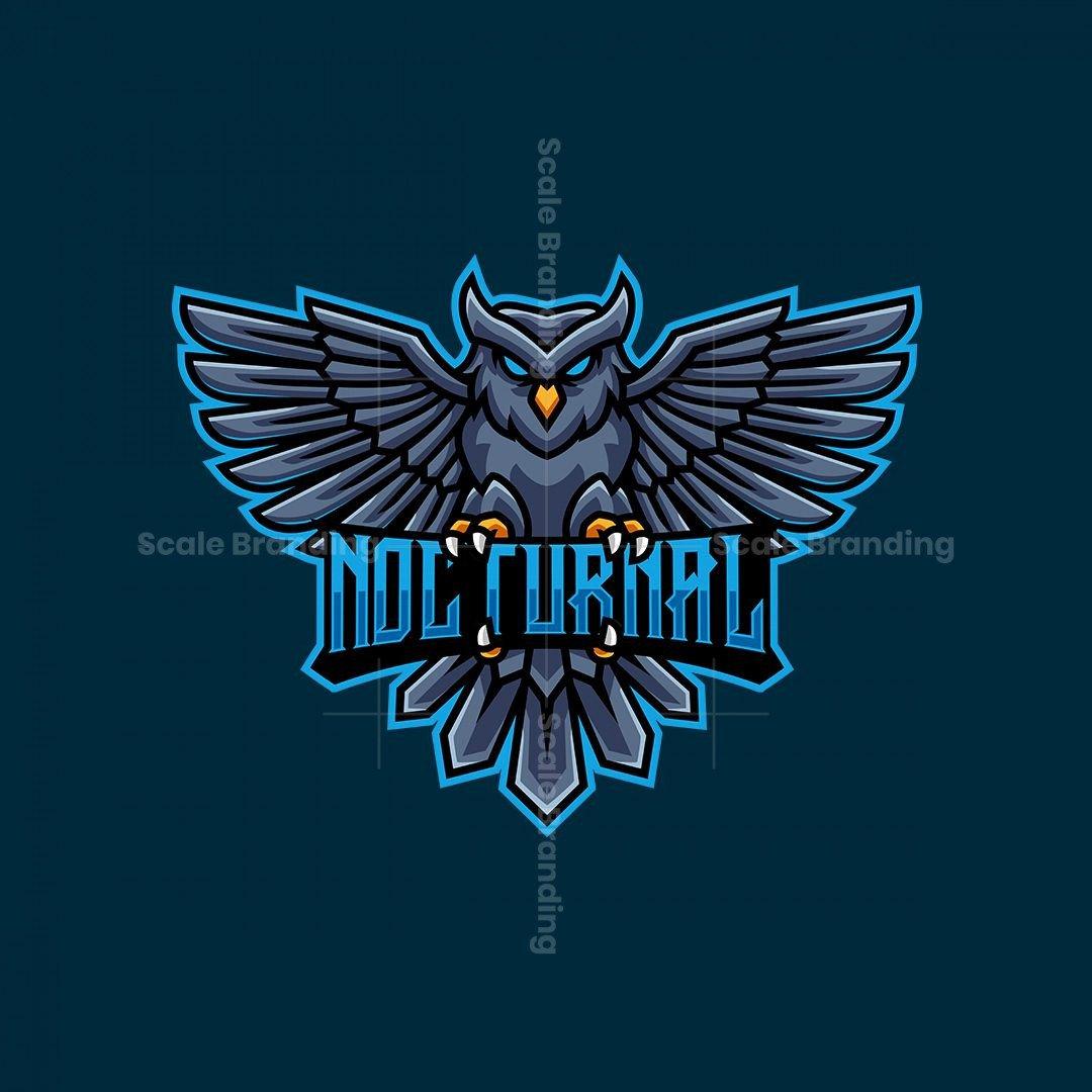 Nocturnal Owl Mascot Logo
