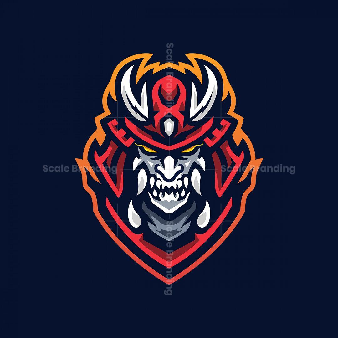 Oni Samurai Mascot Logo