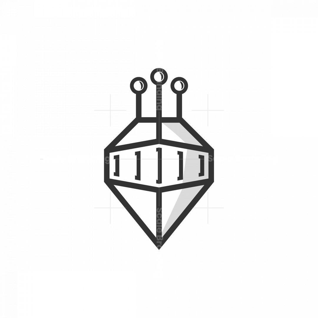 Robot Helmet Logo