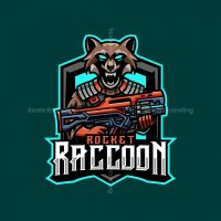 Rocket Raccoon Mascot Logo