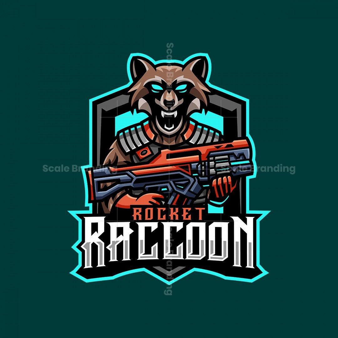 Rocket Raccoon Mascot Logo