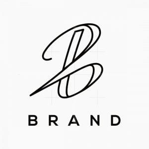 Letter B Signature Logo