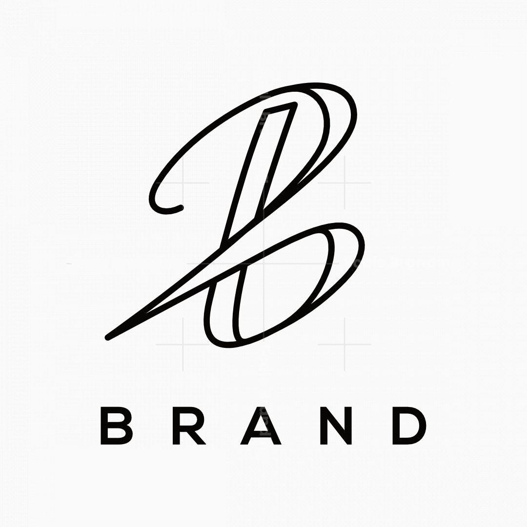 Signature Style Letter B Logo