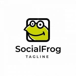 Social Frog Logo