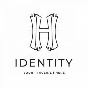 Stylized Letter H Logo