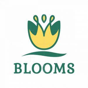 Tulip Flower Letter M Logo