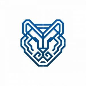 Glyph Tiger Head Logo
