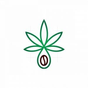 Cannabis Coffee Drop Cbd Logo