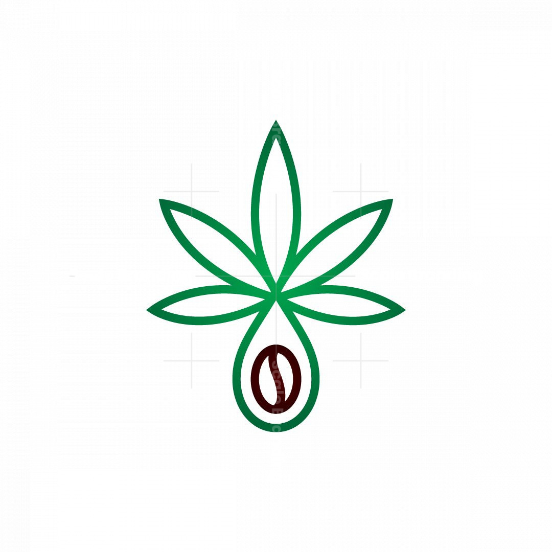 Cannabis Coffee Drop Cbd Logo