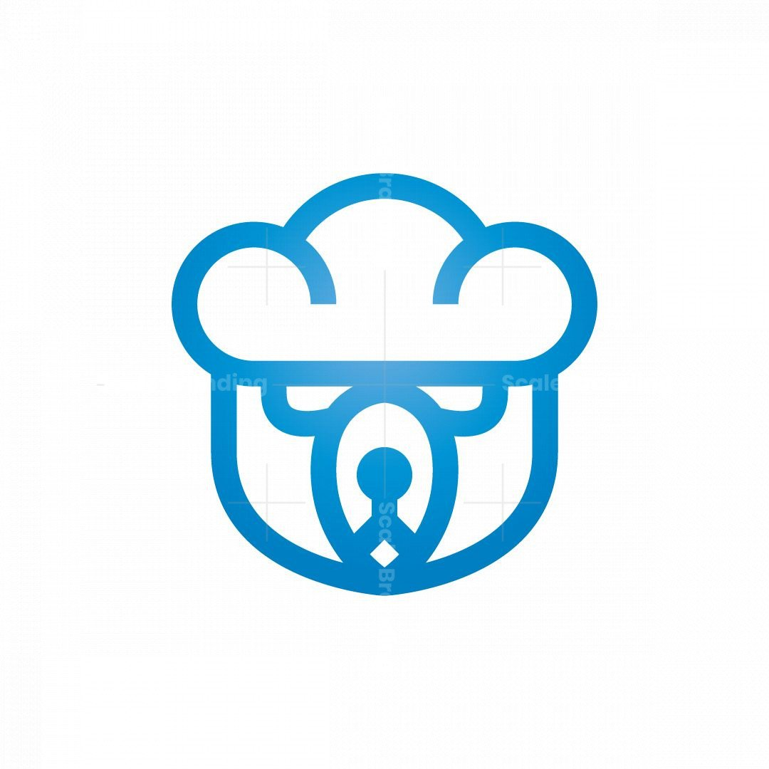 Cloud Storage Logo Bear Logo