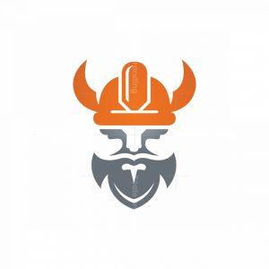 Construction Worker Helmet Viking Logo